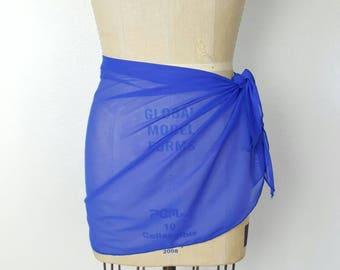 Sheer Royal Blue Cover Up - 34