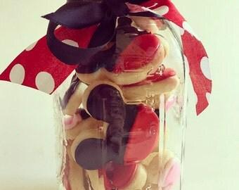 Mickey Mouse jars Disney cookies Disney Gift Mickey cookies Minnie Mouse cookies
