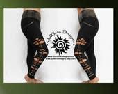 SAGE LADY - Junior / Women Non-See Through High Waist Black Leggings Cut and Weaved Black Yoga Leggings