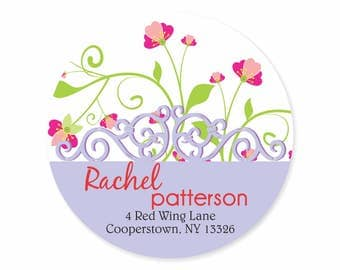 Forget Me Nots Periwinkle Blue Sage Personalized Address Labels Stickers