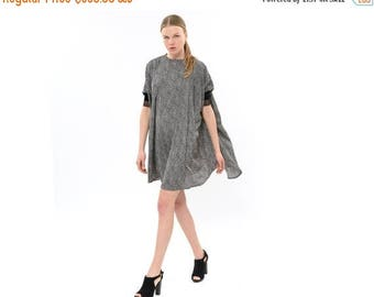 Drapey Dress for Day or Night, Black and White Breezy Dress, Oversized Flapper Style Dress Elegant modern dress