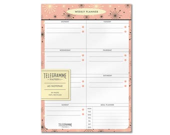 Weekly Planner A5 recycled notepad