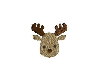 Mini Moose Machine Embroidery Design-INSTANT DOWNLOAD-3 sizes