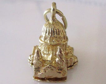 Large Gold St Pauls Cathedral London Opening Charm