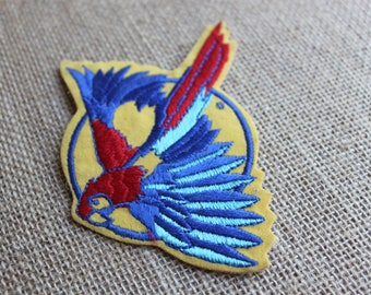 Parrot iron on patch Macaw parrot