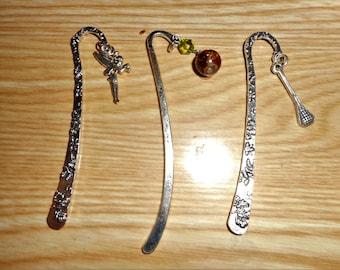 Set of 3 upcycled bookmarks