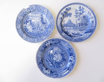 Spode Blue White China Plates - Set of 3 Spode Blue Room Collection Plates