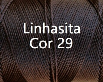 Linhasita Deepest Chocolate Brown (Cor 29) (Blackish Brown) Macrame String/ Cord/ Spool