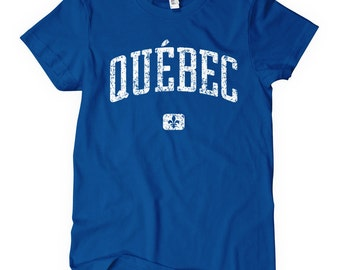 Women's Quebec Canada T-shirt - S M L XL 2x - Ladies' Tee, Gift for Her, Quebec Shirt, Montreal Shirt, YYZ, Quebec City, Gatineau Tee, 514