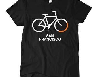 Women's Bike San Francisco T-shirt - S M L XL 2x - Ladies' Tee, Gift For Her, San Francisco Cycling Shirt, Bicycle Shirt, SF Cycling Shirt