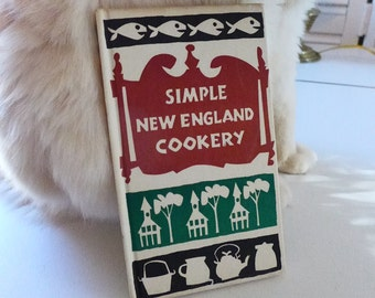 Simple New England Cookery 1962 Peter Pauper Press Hardcover 60s cookbook