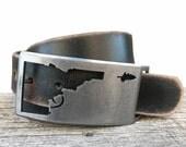 Idaho Gun Belt Buckle- Laser cut -BANANA ink