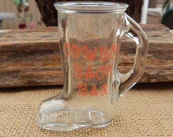 Cowboy Boot Shot Glass  ~  Cowboy Back Bar Boot Shot Glass