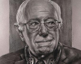 """Listen 20 - Bernie Sanders 11""""x17"""" Print"""