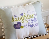 Custom Listing for Ammalu - daughter pillow, small pompom pillow