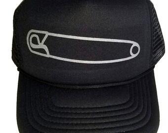Safety Pin Solidarity  Mesh Trucker Hat Cap Snapback Anti Trump