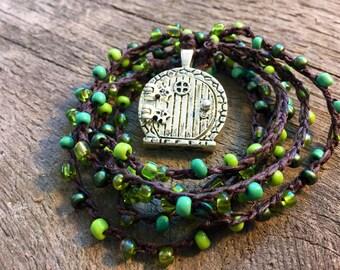 Shire Land:Versatile crocheted necklace / bracelet / belt / headband