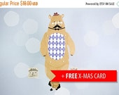 SALE Gentlebear articulated paper doll Bear paper puppet unique unusual gift birthday present christmas card paper decoration hipster style