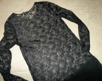 Antique Flapper Era Dress...Sheer Silk & Lace...Good Condition...FREE SHIPPING