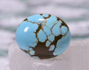 No 8 Turquoise 17.3x14.4x6.3mm Natural Gemstone Cabochon Turquoise Jewelry Supplies