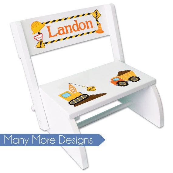 Boy S Personalized Step Stool Custom Folding Chair Child