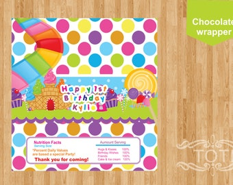 candy bar wrapper Chocolate Candyland