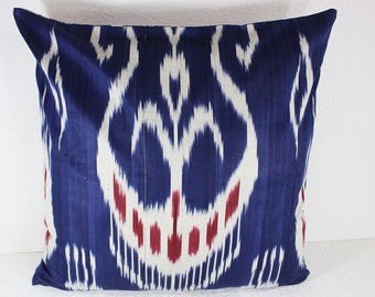 Cotton Ikat Pillow, Ikat Pillow Cover,  C146, Ikat throw pillows, Designer pillows, Decorative pillows, Accent pillows