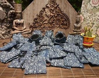 Jewelry Gift Purses,Set Of 25, Batik Purse,Wholesale Bags, Coin Purse, Tribal Purse , Draw String Bag, Folk Art Bag, Little Bag