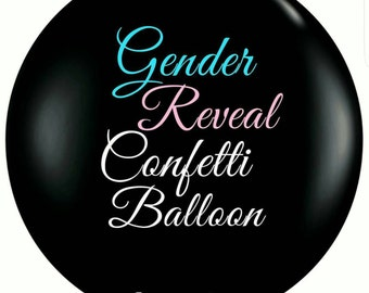 Gender reveal balloon. Pre-filled with confetti - Its a Boy - Its a Girl - Baby reveal party - Baby shower, etc.