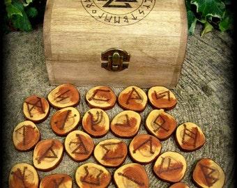 English Churchyard Yew Rune Set: Divination, Witchcraft, Wicca, Pagan