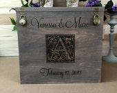 Wedding Card Box, Rustic Wedding, Gift Card Box, Wedding Box, Rustic Card Box, Engraved, Personalized