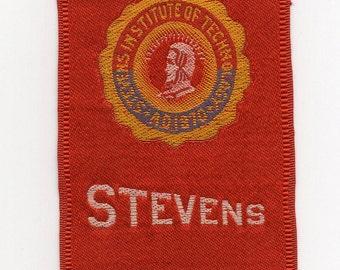 Stevens Institute Of Technology Antique Tobacco Silk Tobacciana Cigarette Advertising Smoking Washington Memorabilia