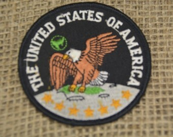 Vintage Patch The United States of America Eagle Embroidered Uniform Trucker Hat Patch