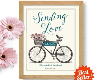 Sending Love Wedding Sign Love Letters Romantic Honeymoon Gift Personalized Wedding Gift Gift Couples Romantic Gift Anniversary Gift