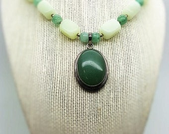 Beautiful Aventurine Necklace with Sterling Silver Clasp
