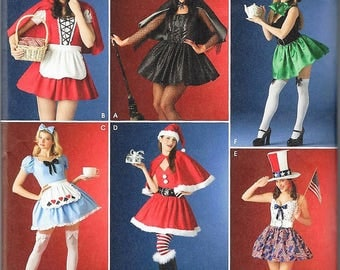 New Simplicity Costume Pattern #4015 Misses' Sz 10-16 or 18-24 Assorted Holiday Costumes Uncut Factory Folded
