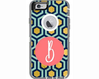 Personalized iPhone 6 & iPhone 6s Honeycomb Otterbox Defender Phone Case | Custom Phone Cases