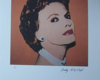 Andy Warhol Lithograph Caroline Ireland limited edition editor authenticated print