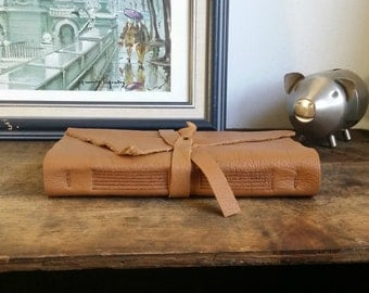Large Leather Journal, Caramel, Hand-Bound 5.75 x 8.75 Journal by The Orange Windmill on Etsy 1603