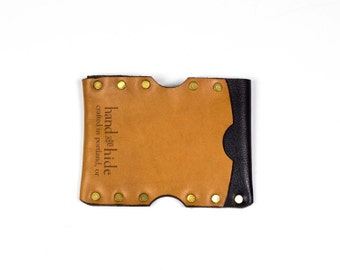 Leather Micro Wallet / Premium Italian Leather / Men's wallet / gift for him / Ready to Ship / slim wallet / minimalist wallet / small
