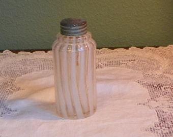 EAPG Antique Northwood Salt SHAKER Condiment swirl opal opalescent stripe glass