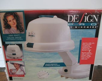 Salon Style Portable Hair Dryer - Design Pro Portable Hair Dryer - Hard Bonnet Salon Style Hair Dryer