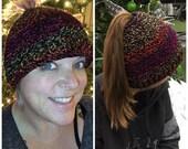 Bun Beanie - Crochet