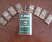 Vintage Sewing Collectibles, Singer Household Oil and 8 Packs of Needles