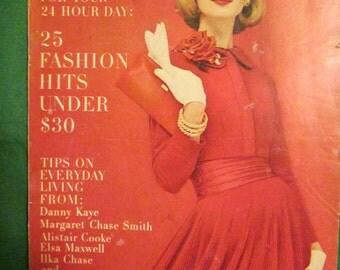 October 1956 GLAMOUR Fashion  Magazine