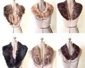 On Hold Do Not Buy Vintage Lot 6 Fur Collars Mink Fur Bear Craft or Vamp up Your jackets