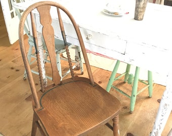 pair of chairs san francisco painted Vintage shabby chic farmhouse prairie