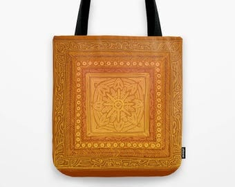Tote bag - Autumn Mandala Square