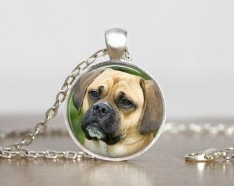Puggle Pendant Necklace or Keychain