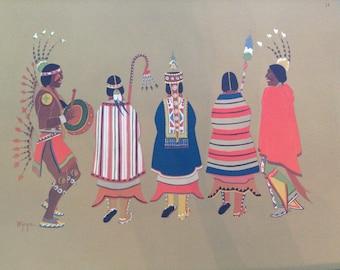 Stephen Mopope Print Ceremonial Dance